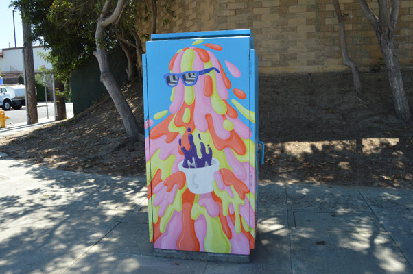 Budget and Finance painted utility box